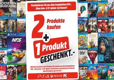 MediaMarkt: 2 Spiele kaufen + 1 Spiel geschenkt