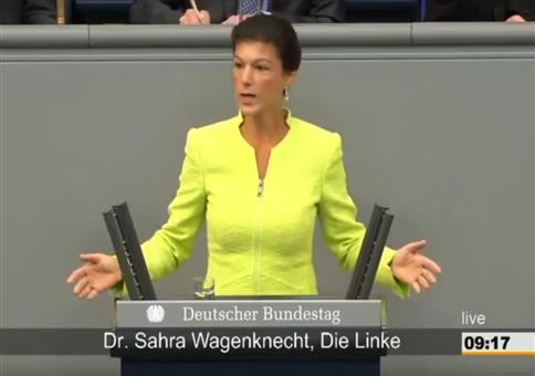Sahra Wagenknecht zur Privatisierung der Autobahnen