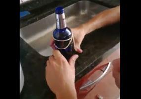 Trinkgläser aus alten Bierflaschen herstellen