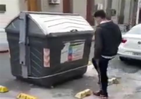 Mit Schmackes die Mülltonne auftreten