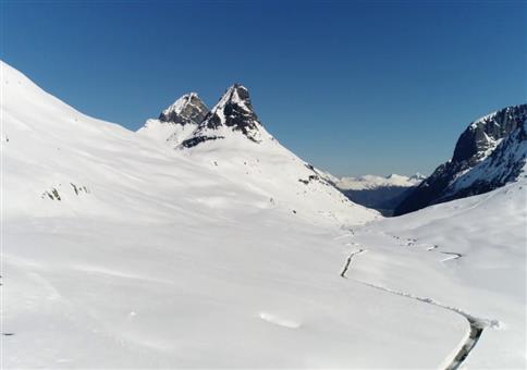 Schneeräumen in Norwegen