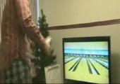 Strike beim Wii Bowling