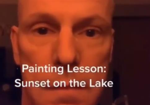 Zeichenstunde: Sonnenuntergang am Meer