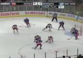 Beim Eishockey die Kamera zerschossen
