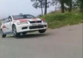 Knappe Sache bei Rallye