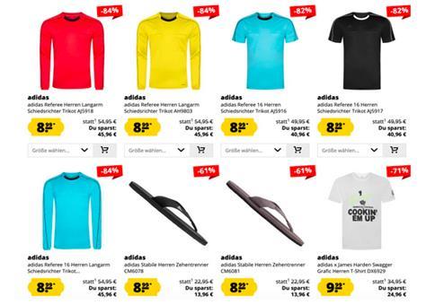 adidas Sale bis zu 91% Rabatt ab 1,99€