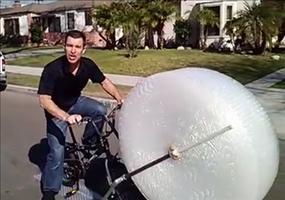 Luftpolsterfolien-Fahrrad