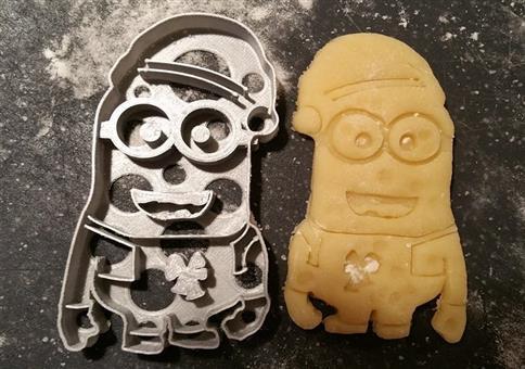 Minion mit Mütze Ausstechform für Kekse!