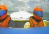 Speedboat in der Kurve