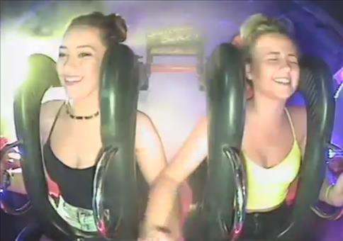 Zwei Mädels beim Slingshot