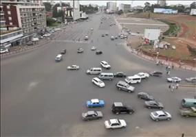 Kreuzung in Addis Abeba (Äthiopien)