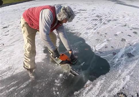Komischen Fisch im Eis gefunden