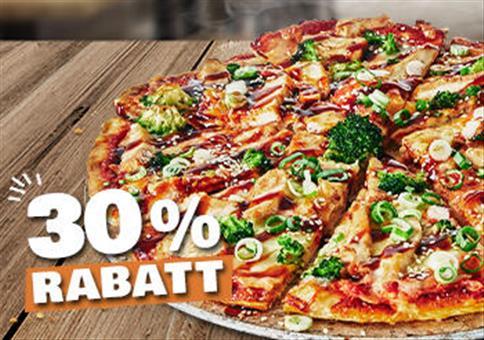 Dominos: 30% Rabatt beim Kauf einer Pizza