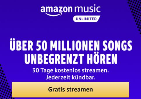 Amazon Music Unlimited 1 Monat gratis