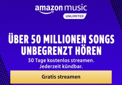 Amazon Music Unlimited 1 Monat gratis