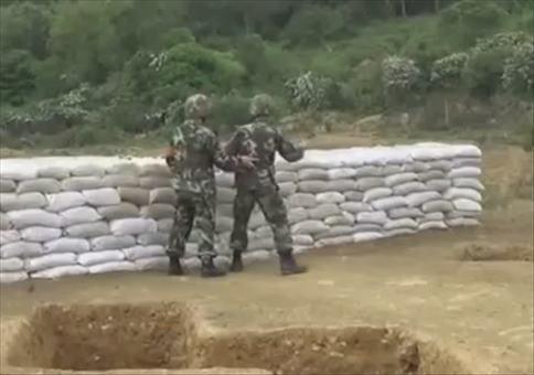 Chinesen können keine Handgranaten werfen
