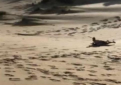 Vom Strand ins Meer surfen