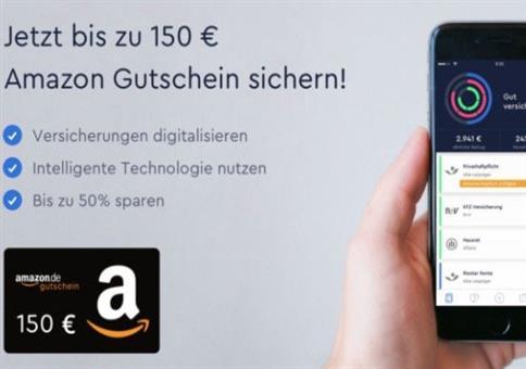 Versicherungen verwalten - 150€ Amazon Gutschein erhalten