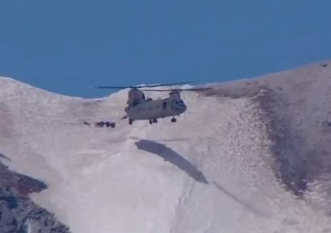 Krasse Hubschrauberrettung auf dem Mount Hood