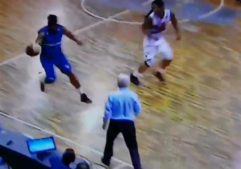 Wenn der Basketballer ins Publikum rauscht