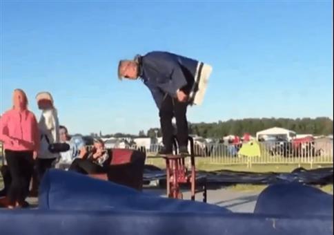 Stuhl Tisch Trick Fail
