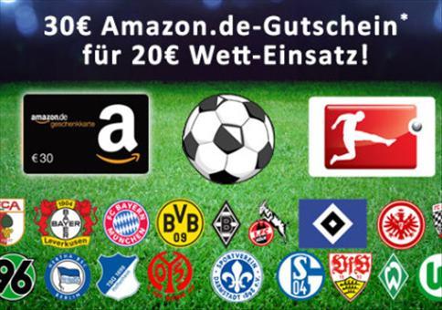 Bundesliga: 30€ Amazon Gutschein geschenkt!