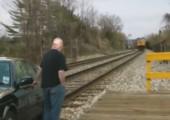 Einem Zug ausweichen