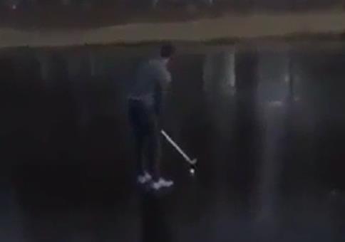 Golfen auf dem Eis