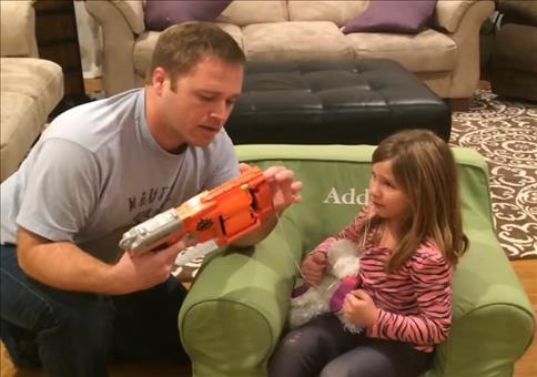 Zahnziehen mit der Nerf Gun