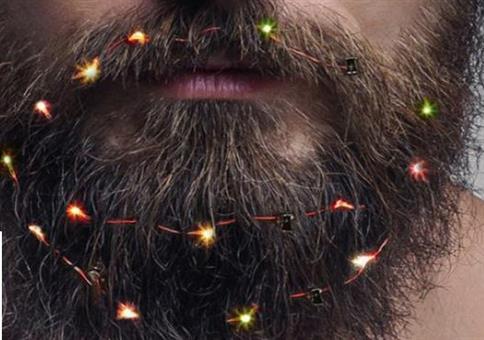 Weihnachtlicher Schmuck für den Bart