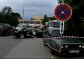 Lamborghini Diablo crashen