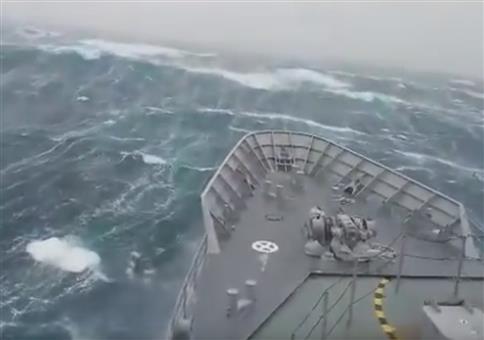 Sturm vor der Küste Neuseelands