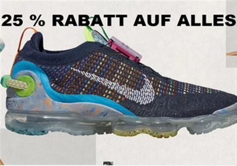 Nike mit 25% Extra-Rabatt auf das ganze Sortiment
