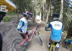 Schöne Downhill Strecke mit unerwartender Streckenführung