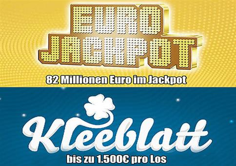 1 Tipp EuroJackpot (82 Mio. €) + 40 Rubbellose