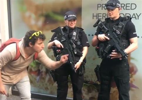 Münztrick vor der Polizei