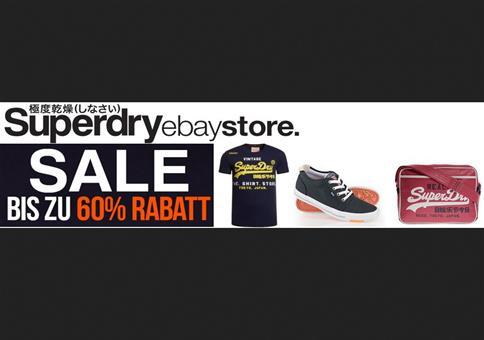 Superdry Sale auf eBay mit bis zu 60% Rabatt