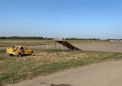 Russisches Autoflugzeug
