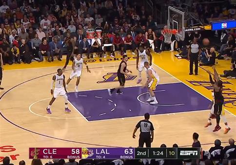 LeBron James und sein blinder Pass