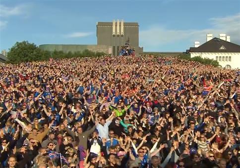 Die isländische Nationalmannschaft ist wieder zu Hause