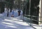 Mit Ski gekonnt grinden