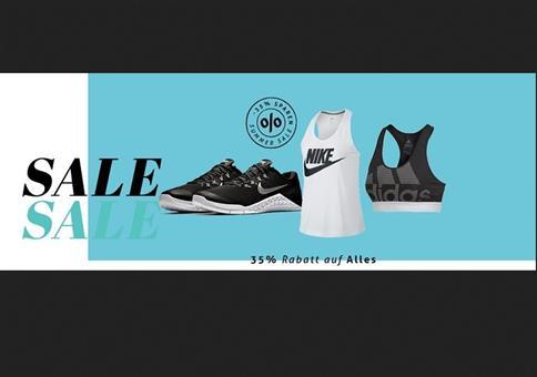 35% auf Bekleidung von adidas, Nike und Co.