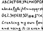 Erstelle eine Schriftart aus deiner Handschrift