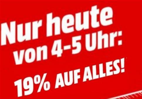 Super Bowl Flash Sale: von 4-5 Uhr mit satten 19% Auf Alles!