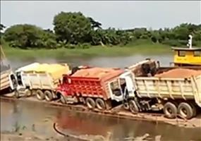 LKW Transport auf dem Wasser