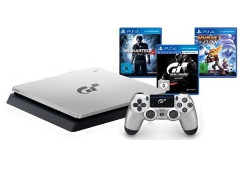 SONY PS 4 Limited Edition GT Sport & 4 Spielen für 269,99€