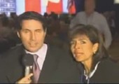 Reporter zu nah am Publikum