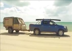 Voll ausgestatteter Camping Anhänger