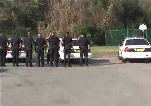 Die Polizei anhupen