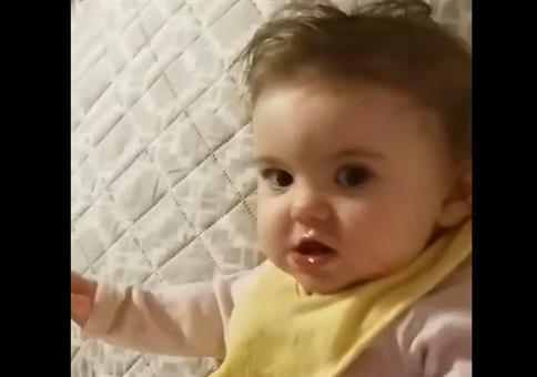 Baby mit fiesem Blick